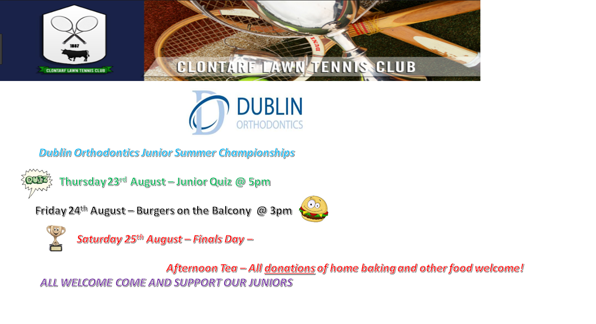 Junior Summer Champs lineup 2018